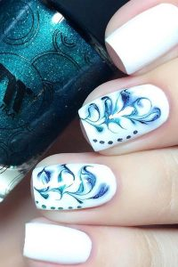 Flowers with marble effect