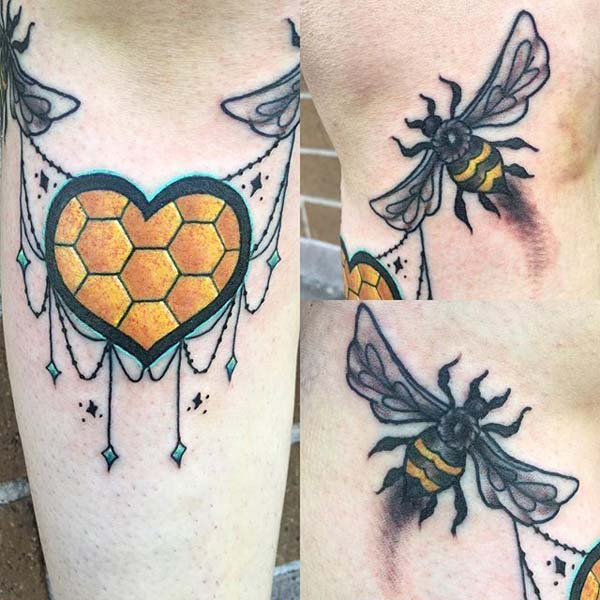 21 Cute Bee Tattoos Trendy Pins
