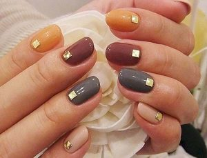 Fall Colors Nail Art Design