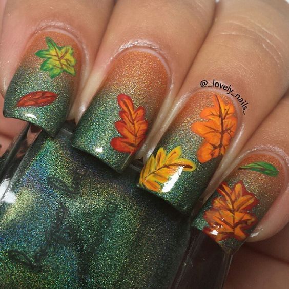 Fall Gradient Featuring Lacquer Lust #nails #fall nails #beauty #trendypins