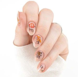 Fall Nail Art Designs With Negative Space