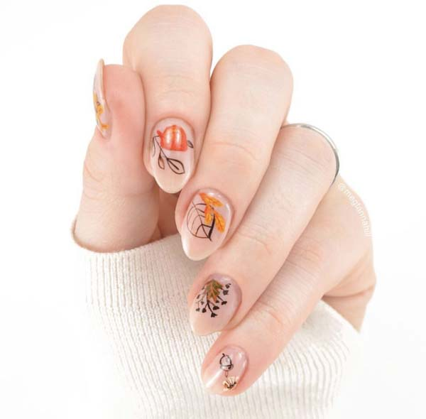 Fall Nail Art Designs With Negative Space #nails #fall nails #beauty #trendypins