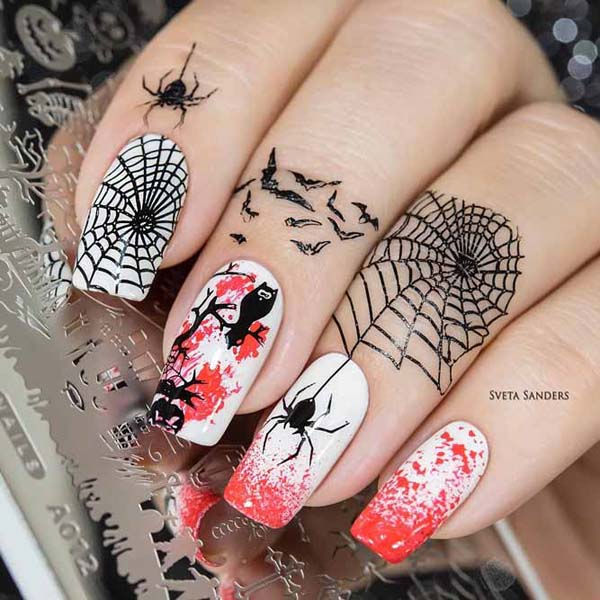 Spiders and Owls #nails #Halloween nails #trendypins