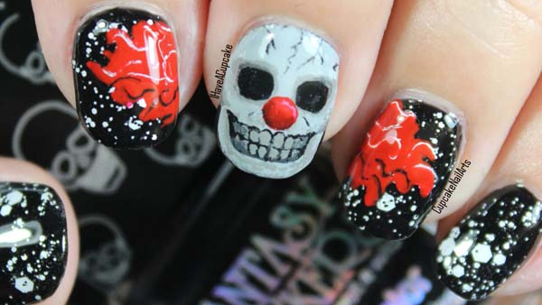 Short Halloween Nails Art Design #nails #Halloween nails #trendypins
