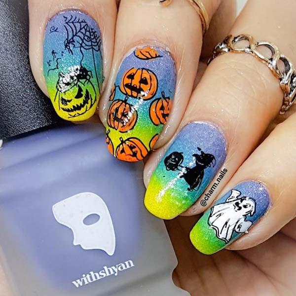 Ghostbuster Halloween Nails #Halloween #nails #trendypins