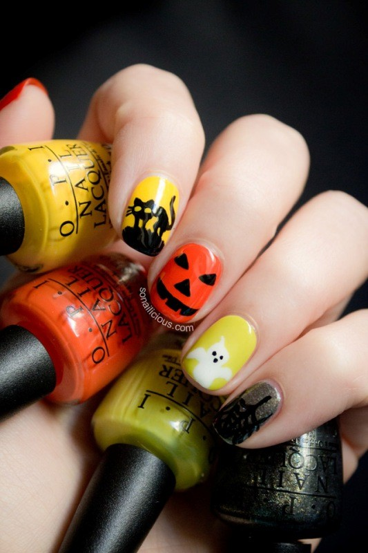 Halloween in Natural Colors #Halloween #nails #trendypins