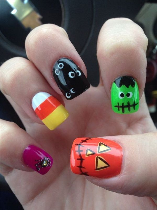 Monster Mash #Halloween #nails #trendypins