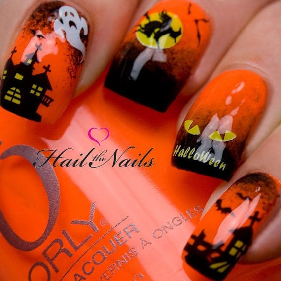 Full of Mystery Halloween Design #Halloween #nails #trendypins