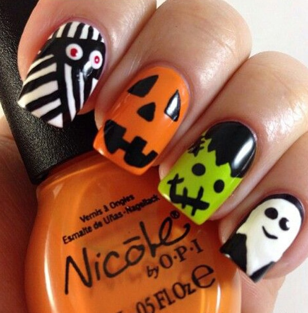 Beetlejuice Nails #Halloween #nails #trendypins