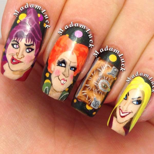 The Most Famous Witches On Nails #Halloween #nails #trendypins