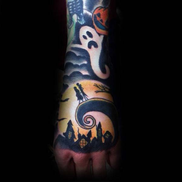 A Nightmare Before Christmas Inspired Wrist Tattoo #Halloween #tattoos #trendypins