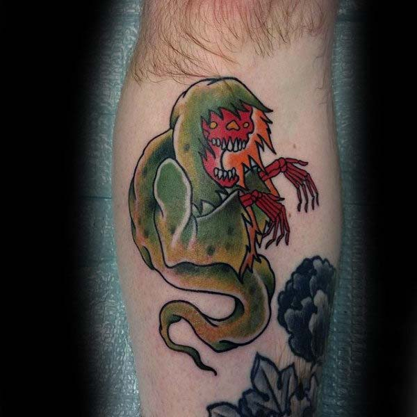 A Sailor Jerry Inspired Ghoul #Halloween #tattoos #trendypins