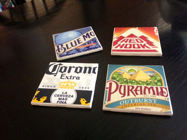 DIY Beer Coasters #DIY #Christmas #gifts #trendypins