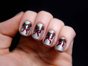 Bow Tied Christmas Wreath on Nails