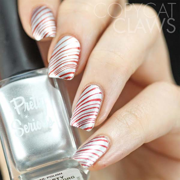 Candy Cane Christmas Nails #Christmas #nails #trendypins