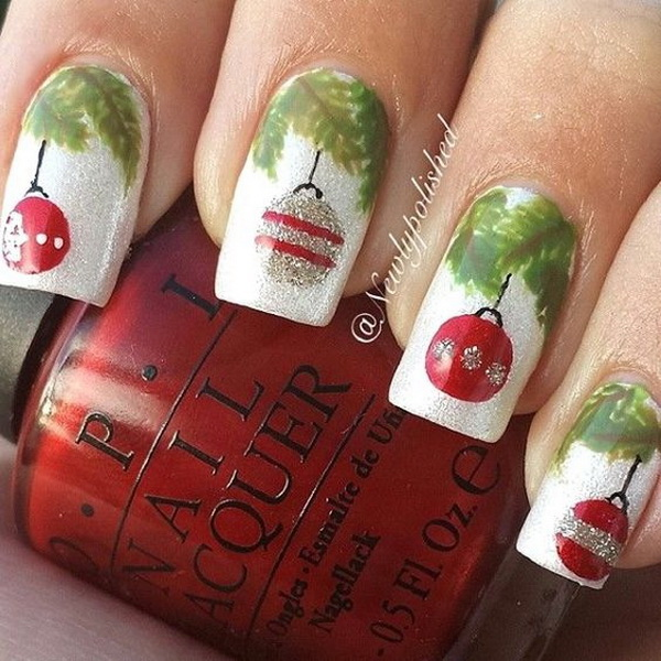Christmas Baubles Nails #Christmas #nails #trendypins