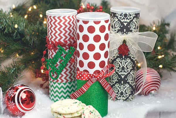 Christmas Cookie Containers #DIY #Christmas #gifts #trendypins