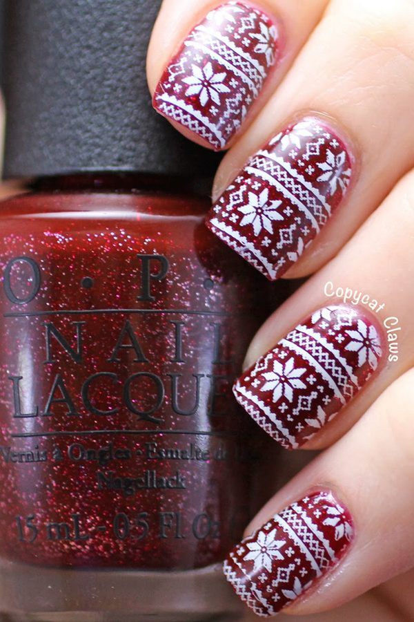 Christmas Sweater on Nails #Christmas #nails #trendypins