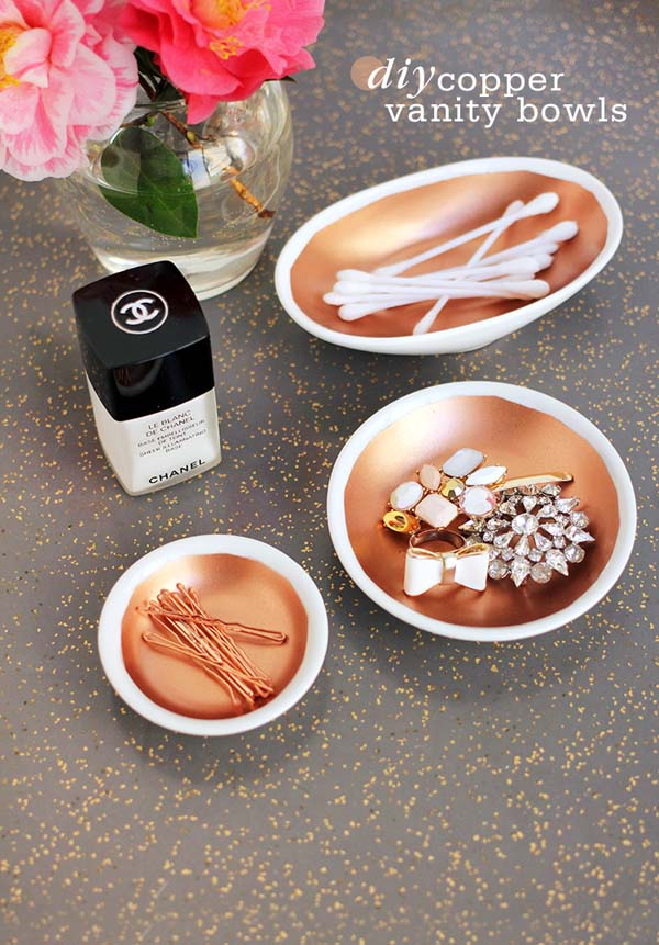 DIY Copper Vanity Bowls #DIY #Christmas #gifts #trendypins