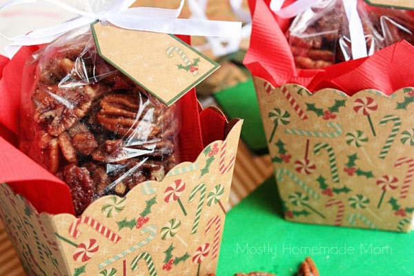 Crockpot Roasted Sugared Pecans #DIY #Christmas #gifts #trendypins