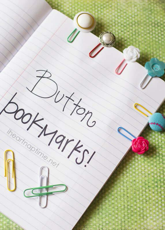 DIY Button Bookmarks #DIY #Christmas #gifts #trendypins