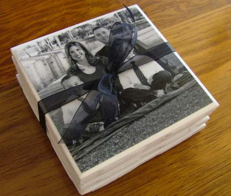 DIY Photo Coasters #DIY #Christmas #gifts #trendypins
