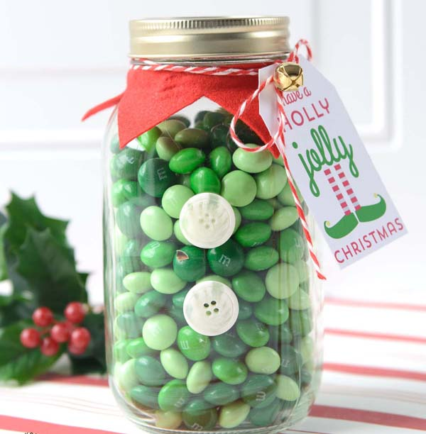 Elf Christmas Mason Jar Gifts #DIY #Christmas #gifts #trendypins