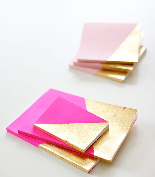 Gold Dipped Notebooks #DIY #Christmas #gifts #trendypins