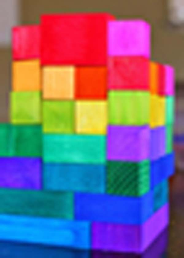 DIY Dyed Rainbow Wooden Blocks #DIY #Christmas #gifts #trendypins