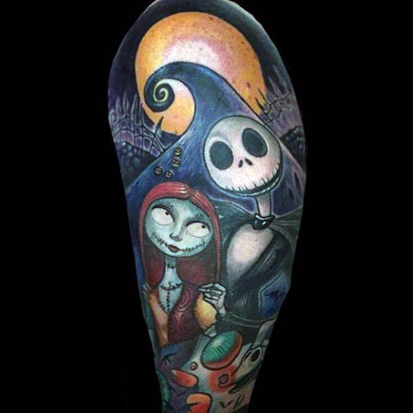 Jack and Sally Tattoo.