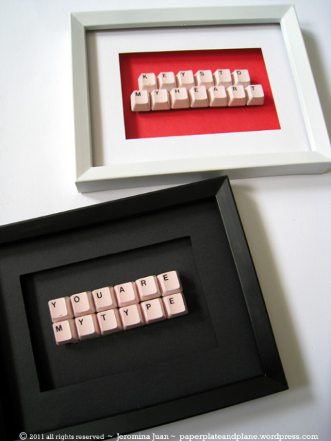 Keyboard Art #DIY #Christmas #gifts #trendypins