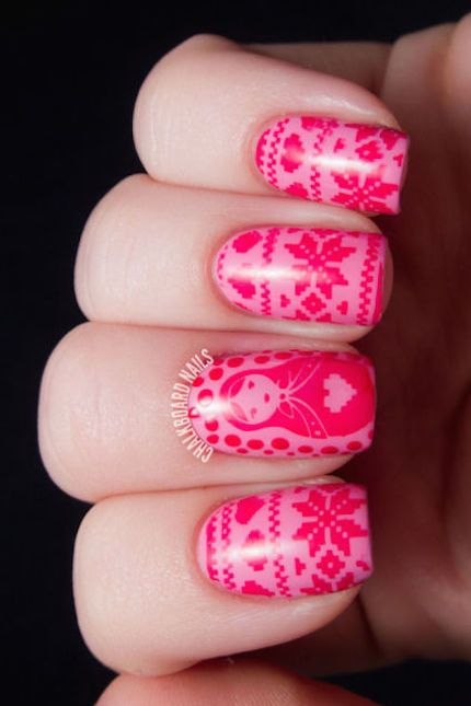 Knit Pattern Christmas Nails #Christmas #nails #trendypins