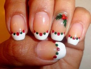 Nail Art Design with Christmas Twigs