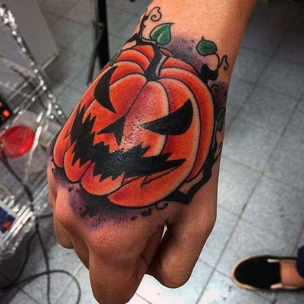 Orange Jack O'lantern With a Black Outline