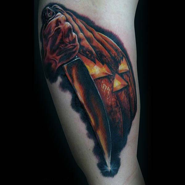 There is Nothing More Terrifying Than a Michael Myers Tattoo #Halloween #tattoos #trendypins