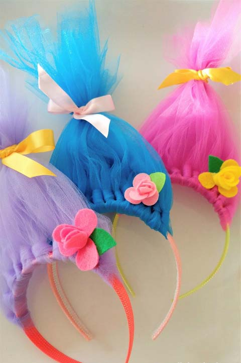 Troll Hair Headbands #DIY #Christmas #gifts #trendypins