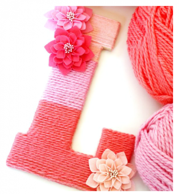 Yarn-Wrapped Ombre Monogrammed Letter #DIY #Christmas #gifts #trendypins