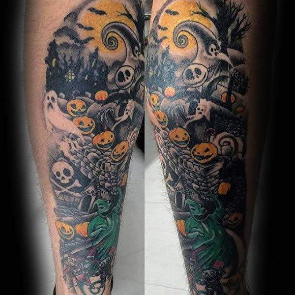 You Can Never Go Wrong if You Get a Nightmare Before Christmas Tattoo