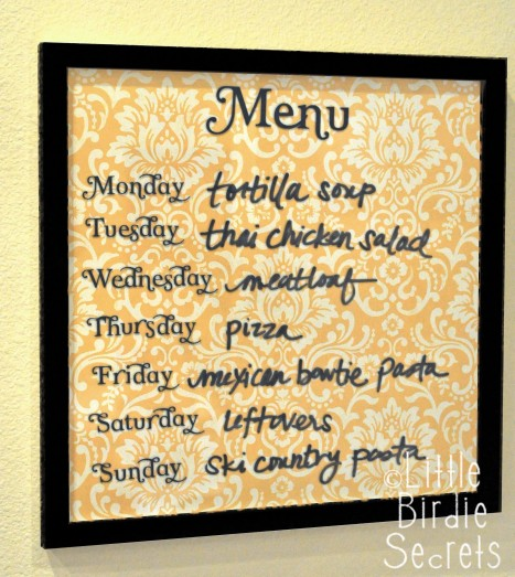 DIY Weekly Menu Board #DIY #Christmas #gifts #trendypins