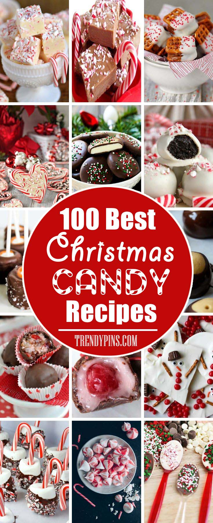 100 Best Christmas Candy Recipes #Christmas #candy #recipes #trendypins