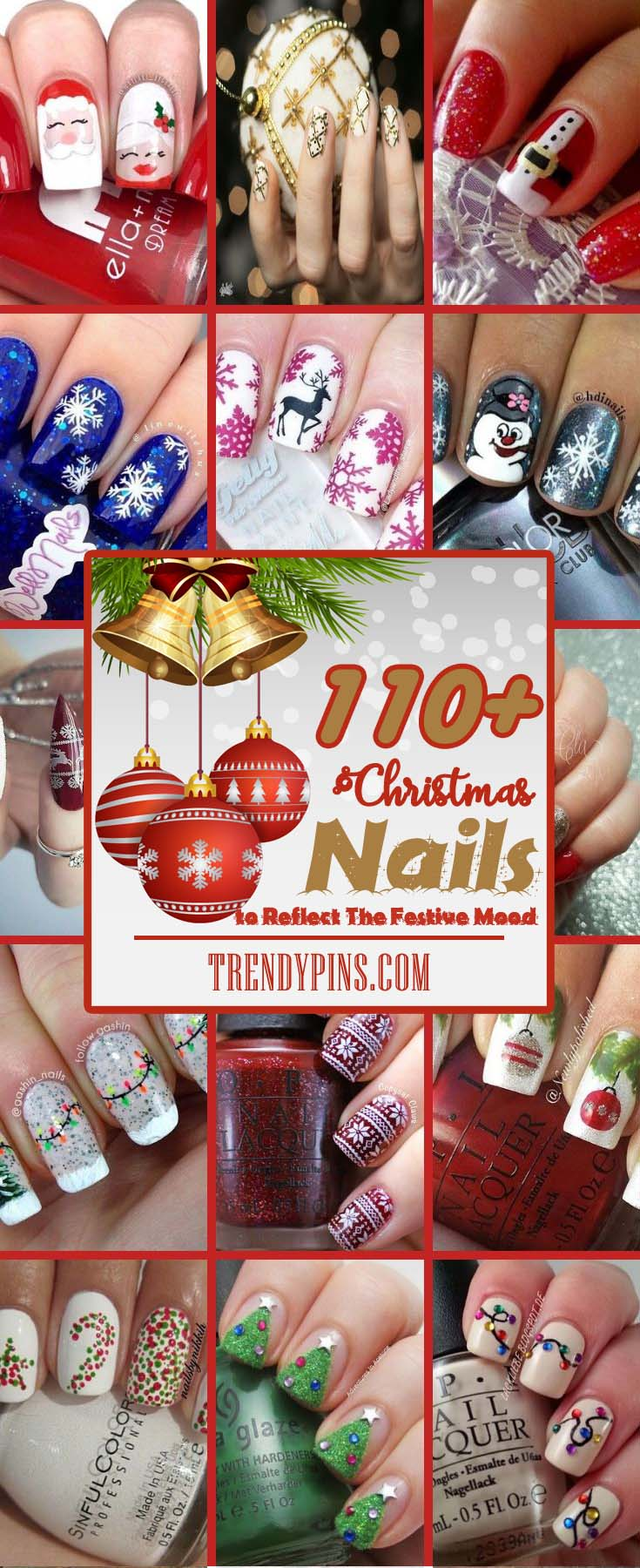 With the feeling of Christmas spirit in the air, you may decide to go for Christmas nails #Christmas #nails #trendypins