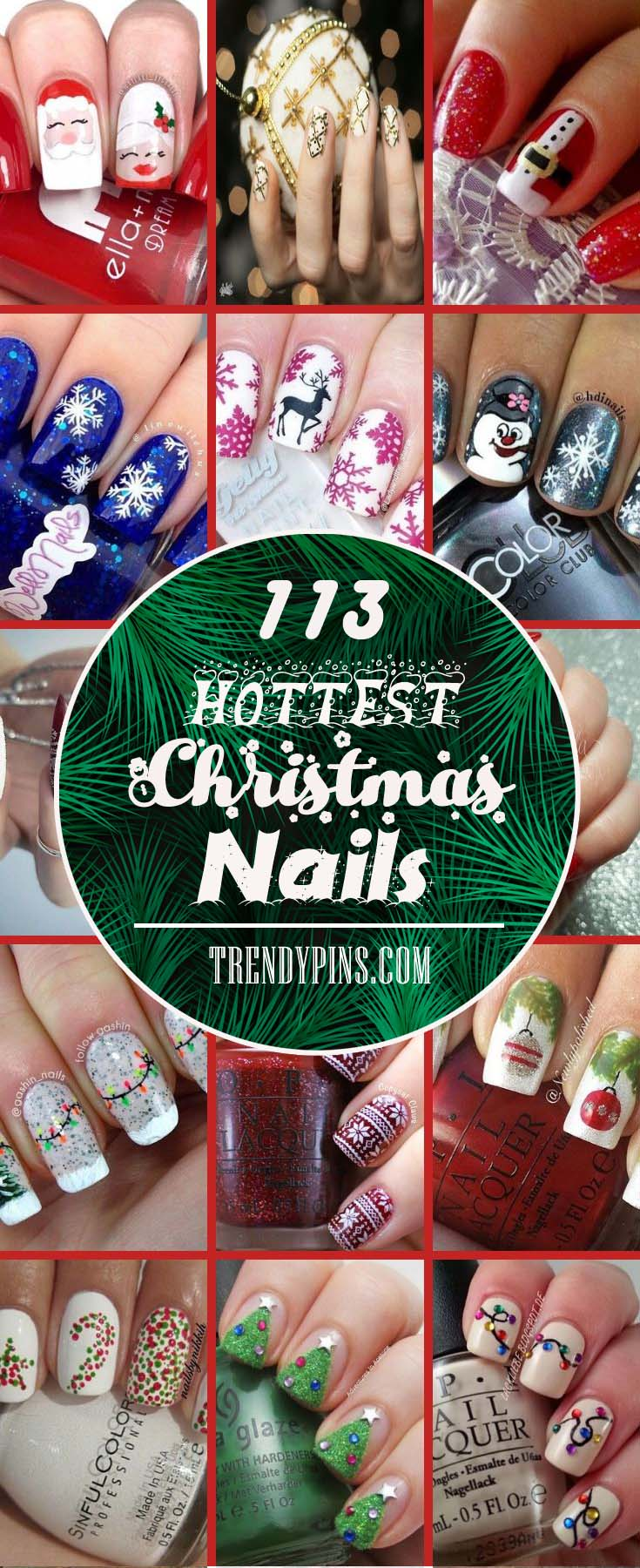 113 Hottest Christmas Nails to Reflect The Restive Mood