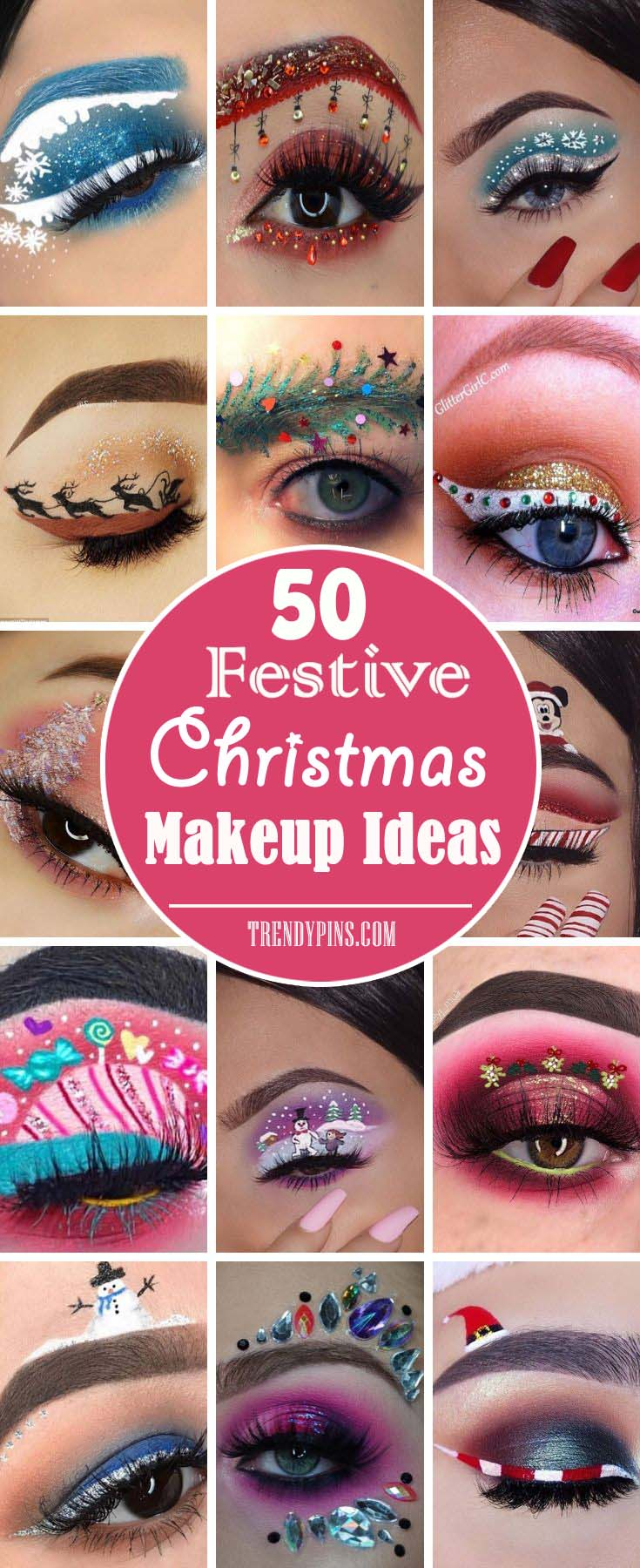 50 Festive Christmas Makeup Ideas for Beauty Lovers , Trendy