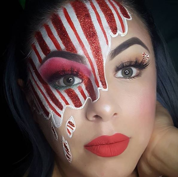 Artistic Christmas Makeup Look #Christmas #makeup #beauty #trendypins