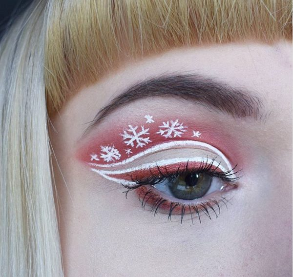 Brown Neutral Christmas Eye Makeup #Christmas #makeup #beauty #trendypins