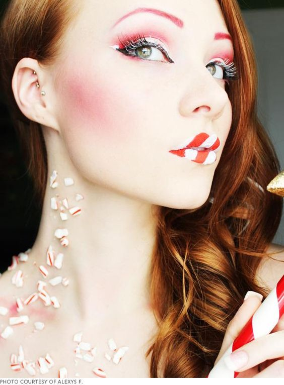Candy-Cane-Eye-Makeup-and-Lips