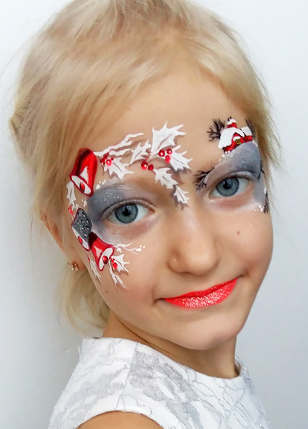 Christmas Bells and Mistletoe Makeup Look #Christmas #makeup #beauty #trendypins