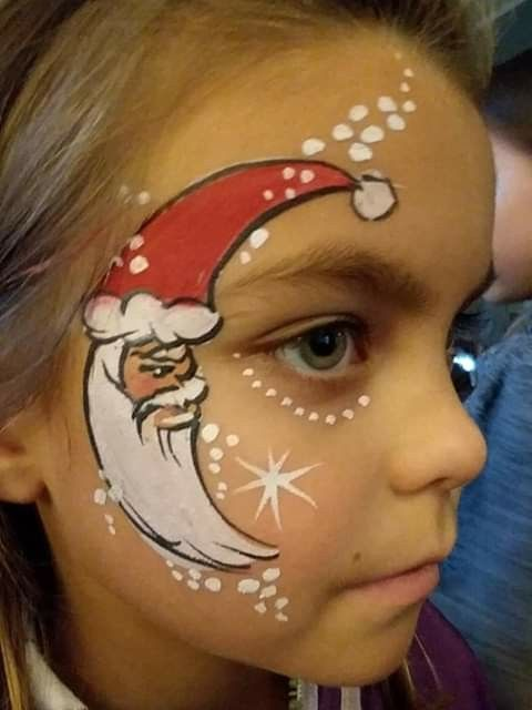 Santa Moon Painted on the Face #Christmas #makeup #beauty #trendypins