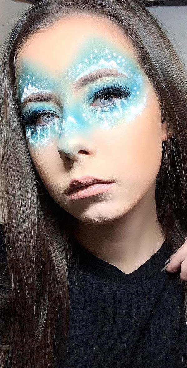 Snowy-Mountains-Christmas-Makeup-Look