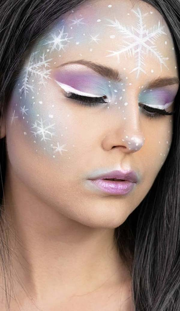 Violet-and-Brilliant-Christmas-Makeup-Look